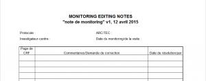 Monitoring editing notes